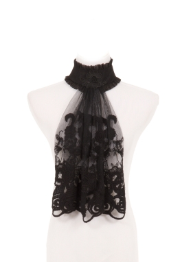 Black Lace Jabot