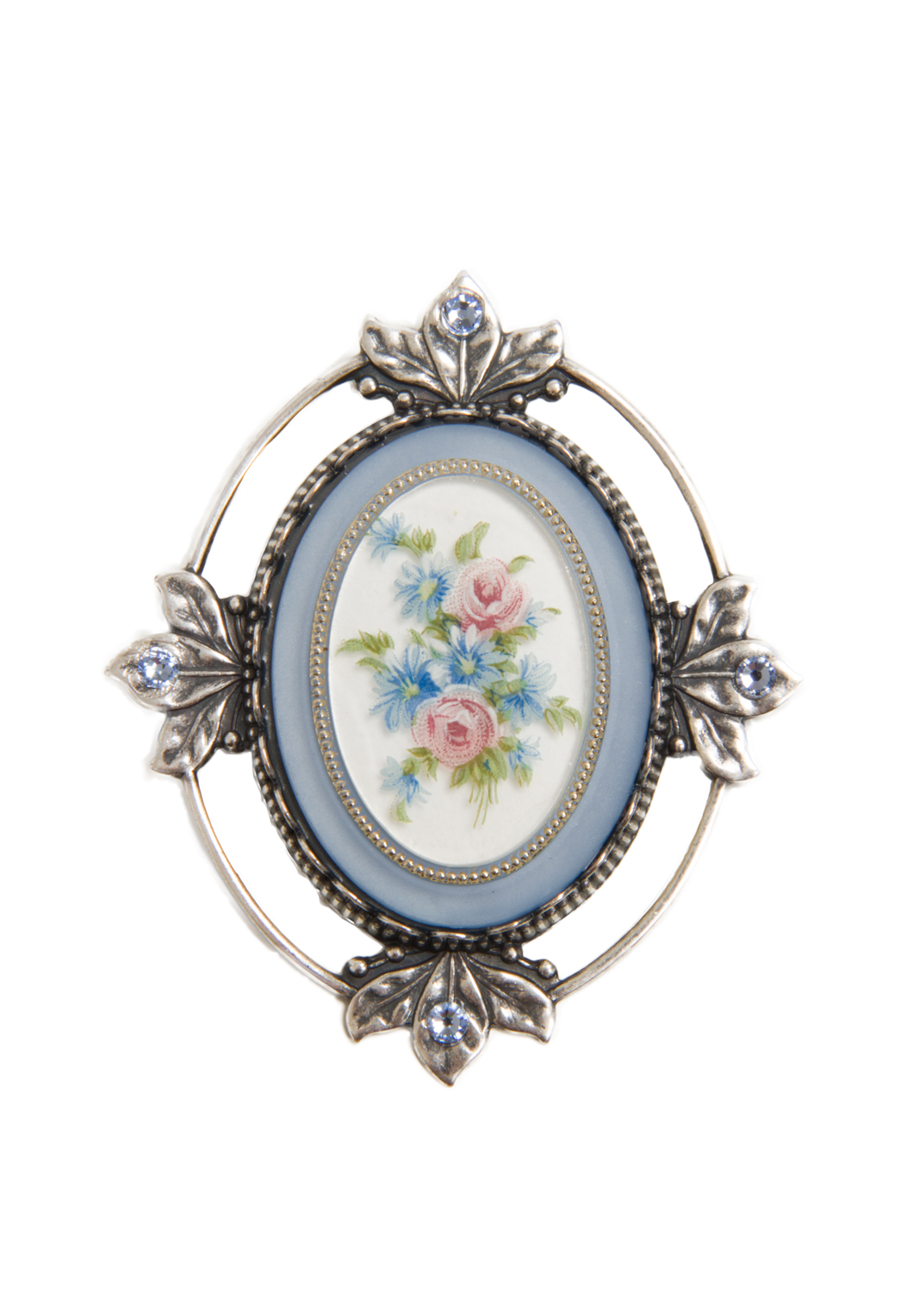 Blue Victorian Brooch