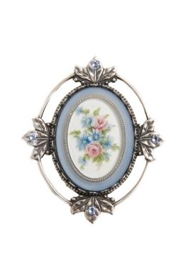 Blue Victorian Brooch