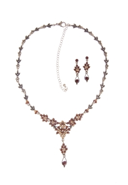 Brown and Topaz Necklace Set