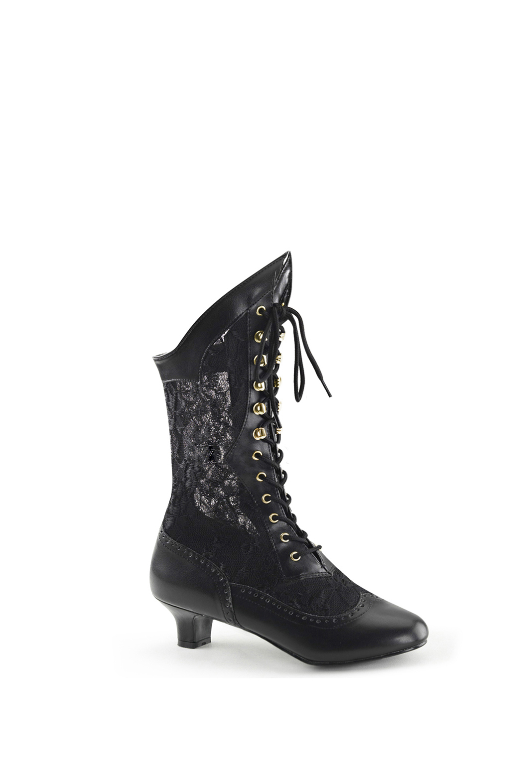 Black Lace up Boot