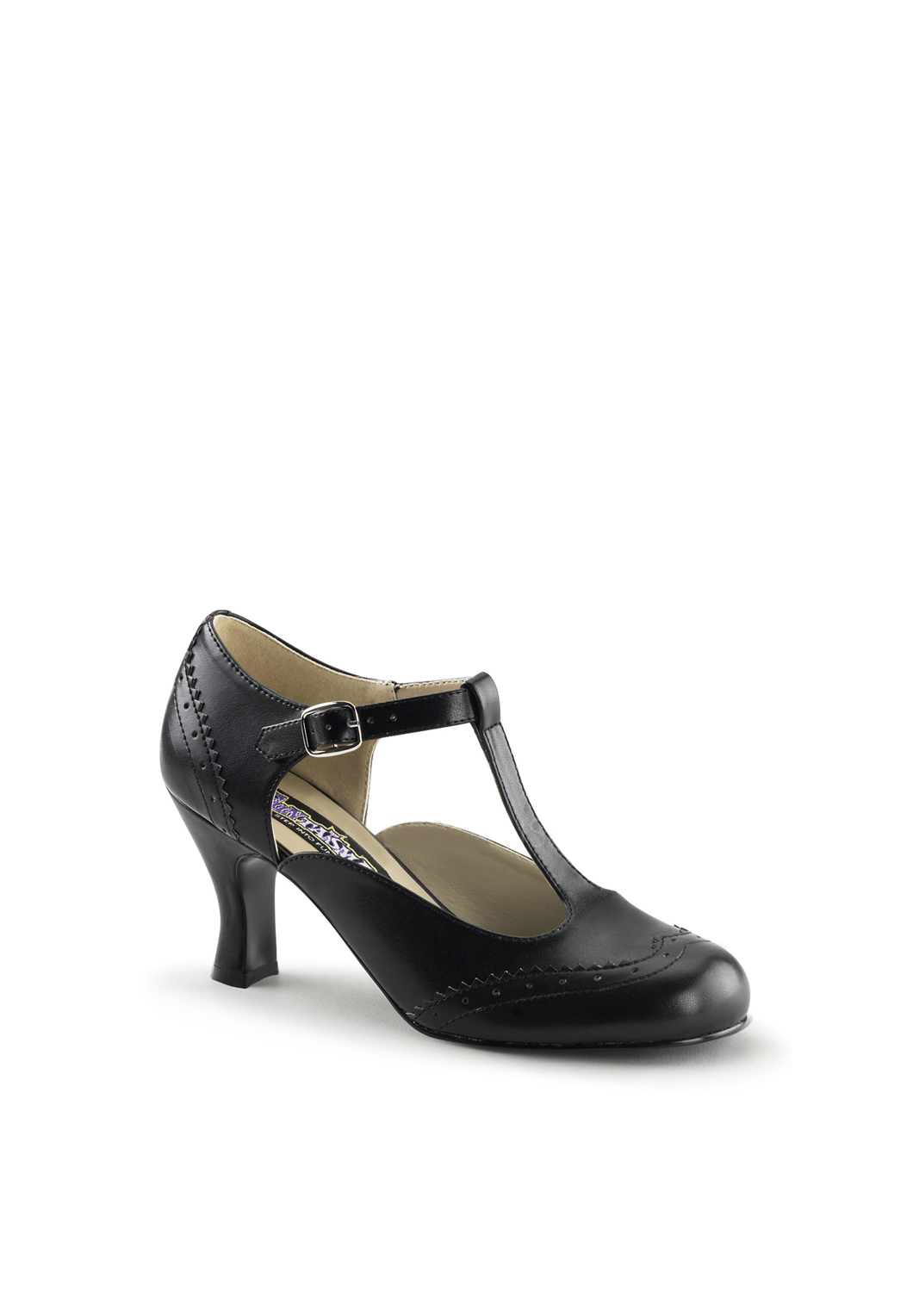 Black Flapper Styled Shoe
