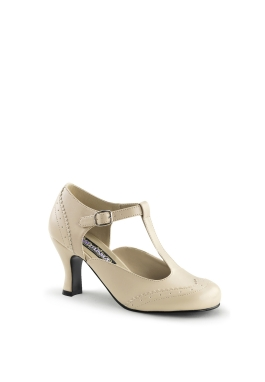 Ivory Flapper Styled Shoe
