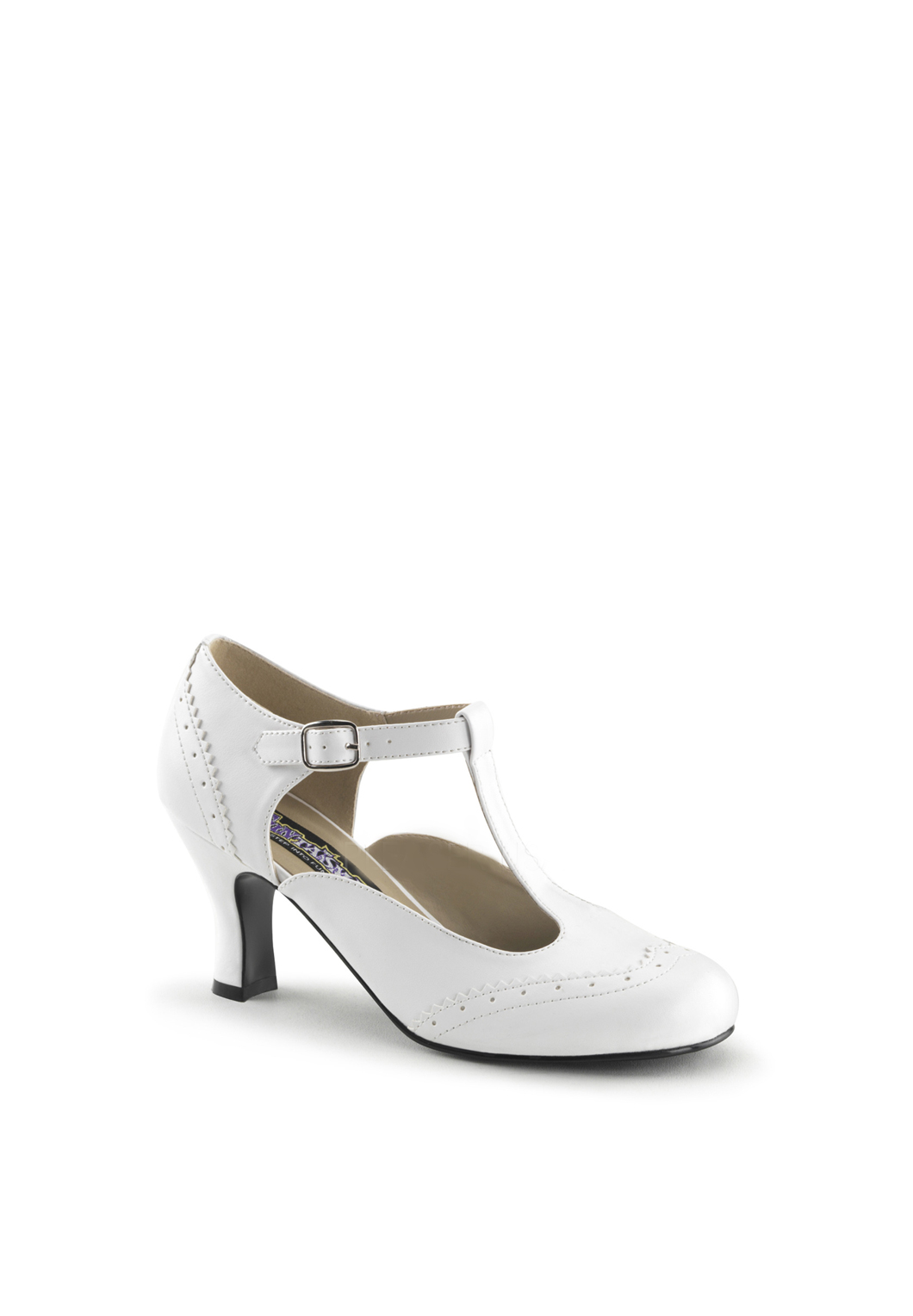 White Flapper Styled Shoe