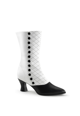 White Victorian Edwardian Spat Boot