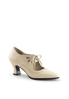 Victorian Edwardian Cream Lace Shoe