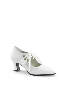 Victorian Edwardian White Shoe