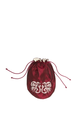 Embroidered Taffeta Purse