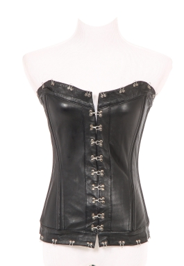 Black Leather Corset