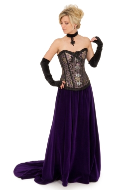 Corset and Velvet Skirt