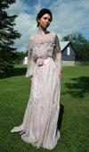 Clearance Chiffon Edwardian Gown - size S