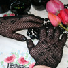 Black Crochet Gloves