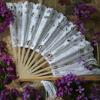 White Battenburg Fan