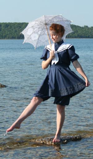 Navy Sailor Bathing Suit