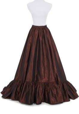 Victorian Taffeta Bustle Skirt