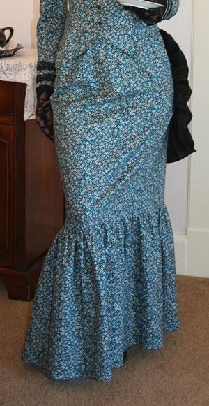 Flounced Print Skirt