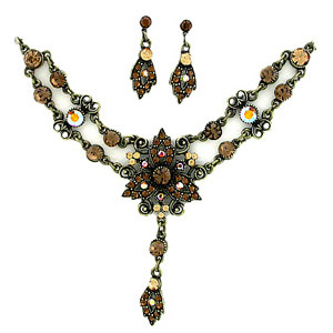 Topaz Austrian Crystal Necklace
