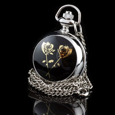 Gold Roses Pendant Watch