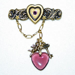 Cupids and Hearts Bar Pin