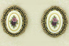 Porcelain Limoges Earrings