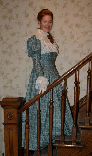 Victorian Calico Dress