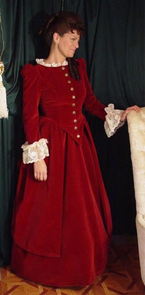 Victorian Velvet Polonaise and Skirt