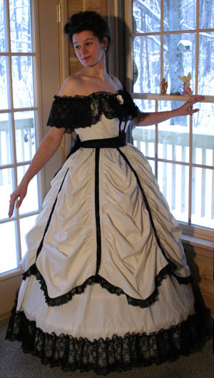 Victorian Civil War Ballgown