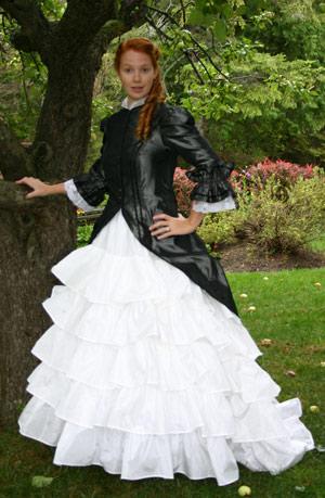 Polonaise and Ruffled Skirt