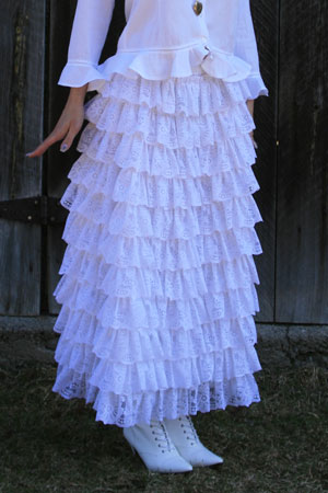 Victorian Lace Ruffled Skirt