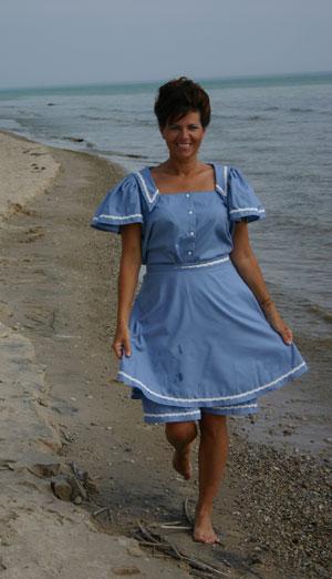 Victorian  Bathing Costume
