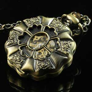 Flower Mechanical Pendant Watch