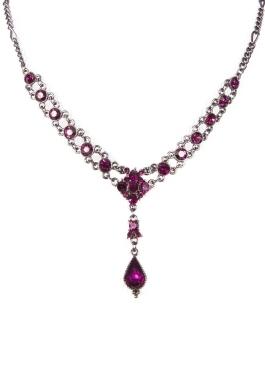 Amethyst Crystal Necklace Set