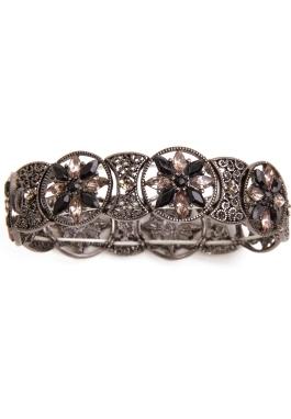 Jet Crystal Bracelet