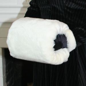 White Fur Muff