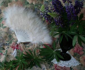 Ivory Feather Fan