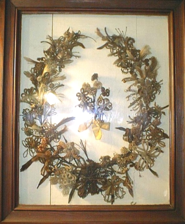 Hairwork Wreath
