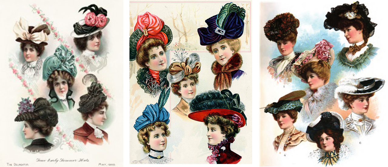 Edwardian Women Loved Hair And Hats Part 2