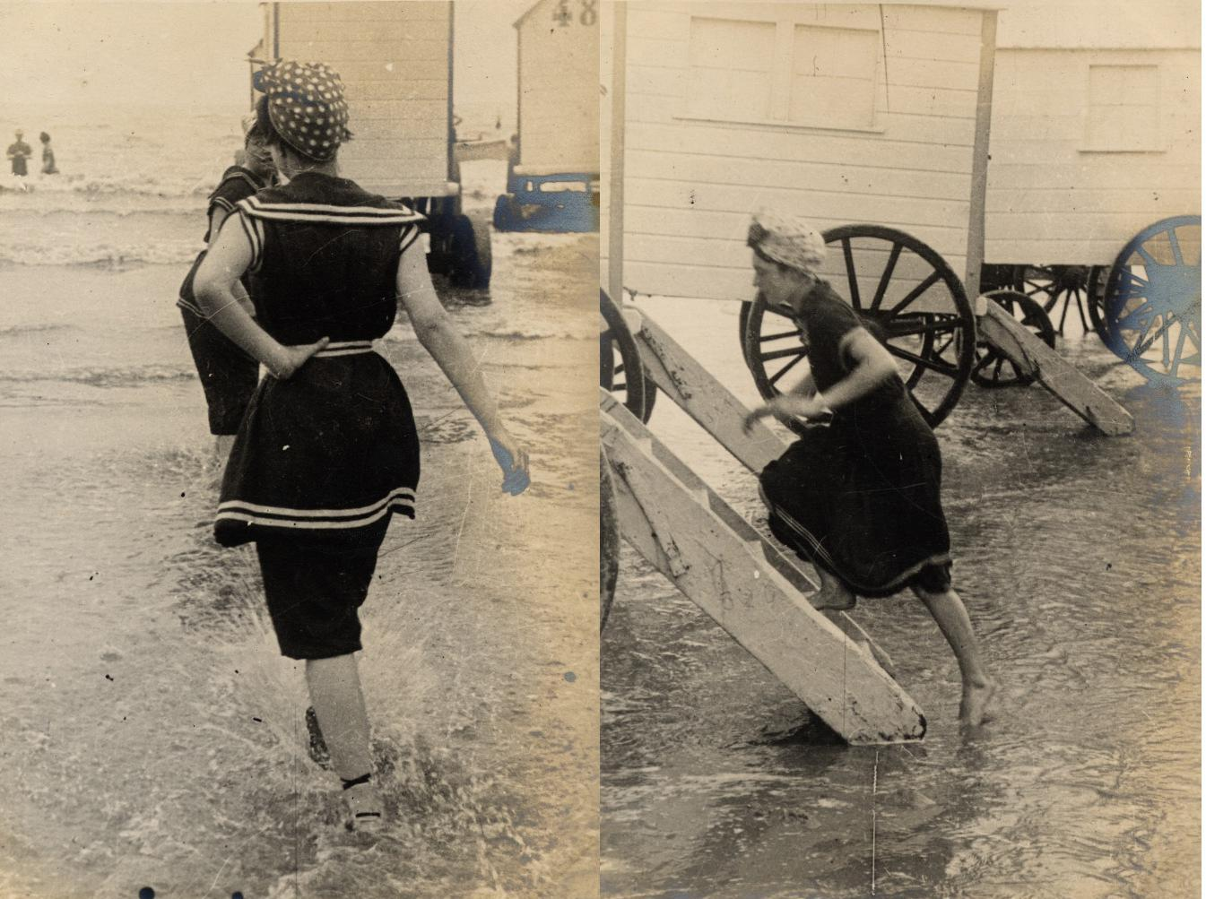 women u0027s 19th century bathing suits seaside summertime fun