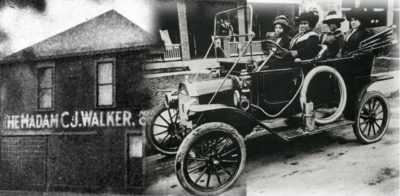 Madam C.J. Walker factory and driving an auto