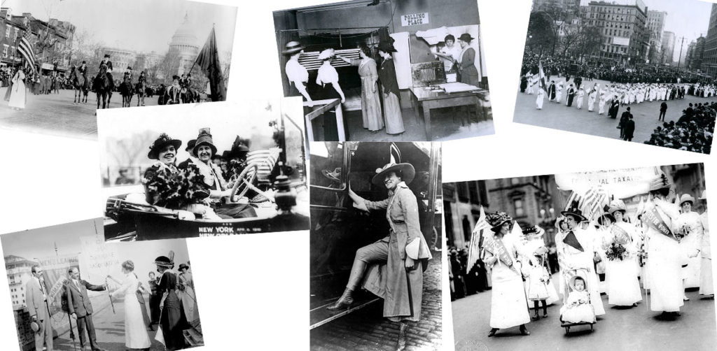 collage of suffrage photos