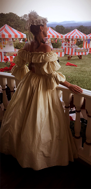Peony Civil War Styled Gown on set of Sharp Objects