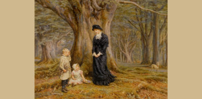 Helen Allingham painting of the Lady of the Manor