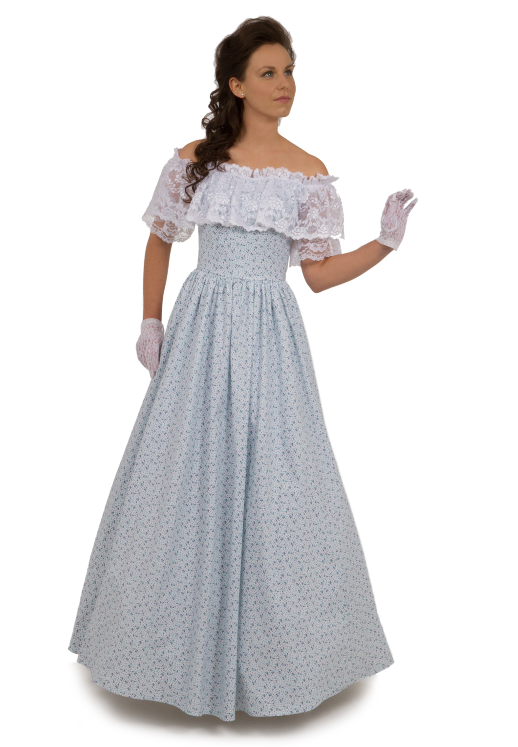 Victorian cotton gown recollections for Old west wedding dresses