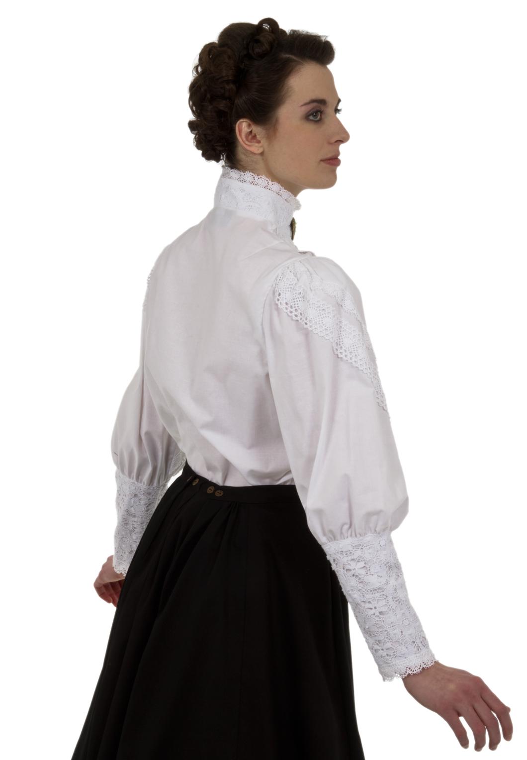 Black High Neck Victorian Blouse Anlis