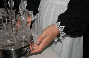 Detail of cuffs on Agatha ensemble