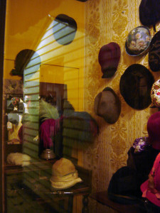 Victorian and early 20th century hats on display at the Besser Museum