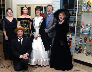 Besser Museum staff and volunteers dressed in Recollections fashions