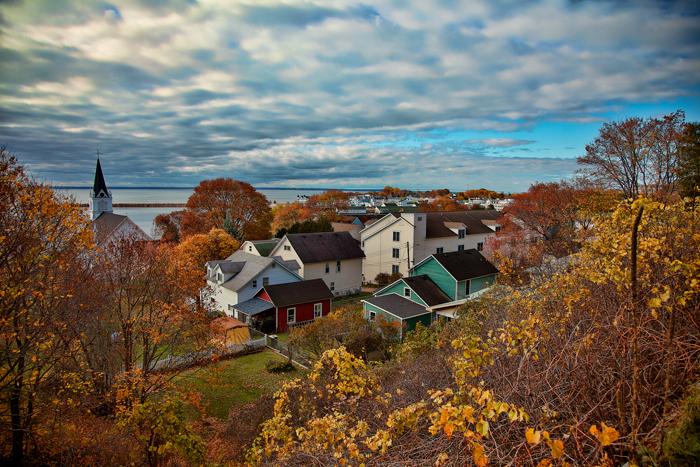 Fall on Mackinac Island in northern Michigan.