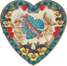 Our heartfelt thanks in a Victorian Cherub Valentine