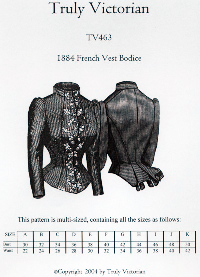 French bodice pattern cover